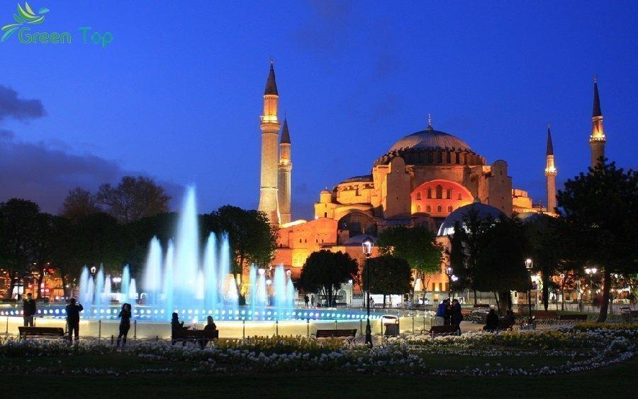 السفر الى اسطنبول وأفضل الأماكن السياحية هناك - الجامع الأزرق بإسطنبول(مسجد السلطان أحمد) -ابا-صوفيا-باسطنبول-تركيا